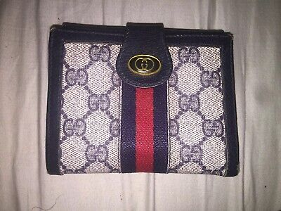 cde96432146 Authentic vintage gucci wallet navy signature monogram racing stripes italy  • jpg 400x300 Vintage gucci wallet