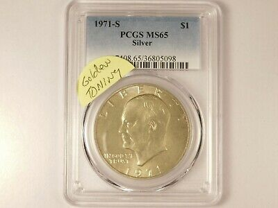 $30 • Buy 1971-S MS65 PCGS Eisenhower Ike One Dollar Uncirculated Certified Coin CH0073