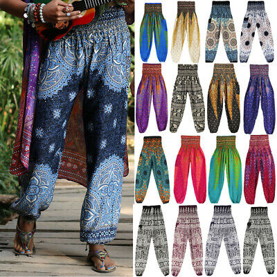 AU13.99 • Buy Harem Pants Trousers Mens Womens Hippie Alibaba Gypsy Baggy Yoga Gym Festival AF