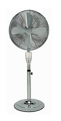 £54.99 • Buy Aironic Chrome 3-Speed 16-Inch Pedestal Floor Fan With Remote Control 4hr Timer
