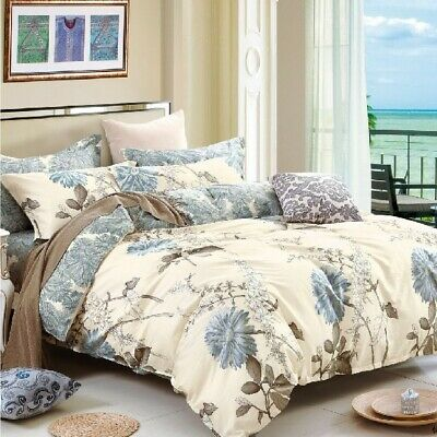 AU40.50 • Buy Single/KS/Double/Queen/King/Super K 100% Cotton Quilt/Duvet Cover Set-Dandelion