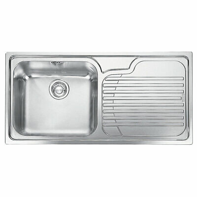 Franke Galassia Inset Kitchen Sink Stainless Steel 1 Bowl 1000 X 500mm (8045f) • 134.99£