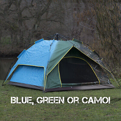 £50.83 • Buy Large 2-3 Man Person Automatic Pop Up Tent Double Layer Festival Camping Fishing