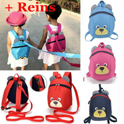 Cartoon Baby Toddler Kids Walking Safety Harness Strap Bag Backpack With Reins • 6.98£