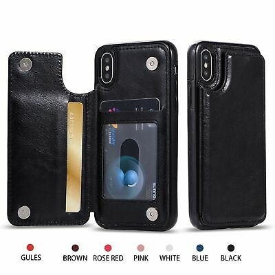 AU12.49 • Buy Leather Wallet Flip Case Card Cover For Apple IPhone 11 Pro Max XR XS 8 7 6 Plus