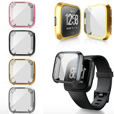 $ CDN4.99 • Buy For Fitbit Versa Band Fitness Slim Designer Sleeve Case Plating Protective Cover