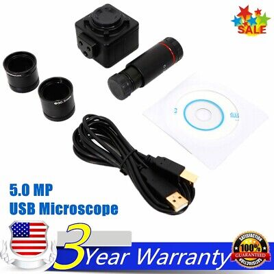 $59.40 • Buy 5.0 MP HD USB Microscope Digital Electronic Eyepiece Camera With C Mount Adapter