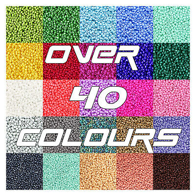 £2.19 • Buy ❌SALE❌12/0 2mm GLASS SEED BEADS SPACER ROCAILLES JEWELLERY 50G BAGS UK SELLER