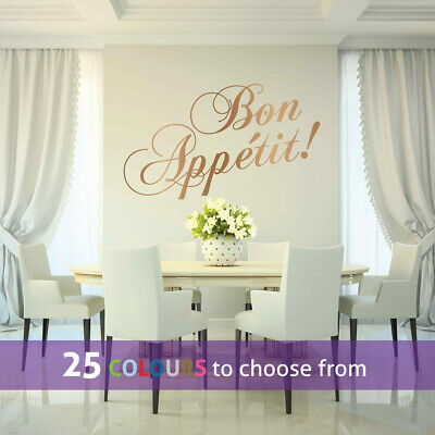 BON APPETIT Wall Sticker Decal Kitchen Chef Cook Diner Dining Room Restaurant • 4.55£
