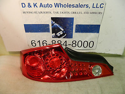 FITS INFINITI G35 COUPE 2003-2005 LEFT DRIVER TAILLIGHT TAIL LIGHT REAR LAMP