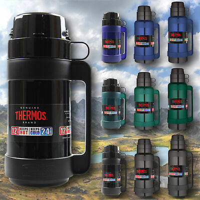 £16.50 • Buy Thermos Glass Vacuum Flask Hot Cold Drinks Insulated Travel Flask Mug Coffee Cup