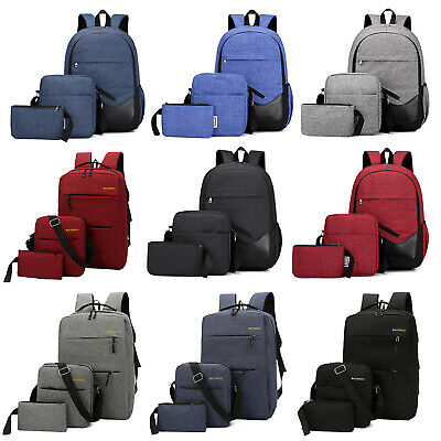 $18.86 • Buy 3pcs Men Boys Girls Women Backpack School Shoulder Bag Rucksack Canvas Bookbag