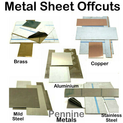 Brushed Aluminium Guillotine Offcuts 1.5mm Many Sizes