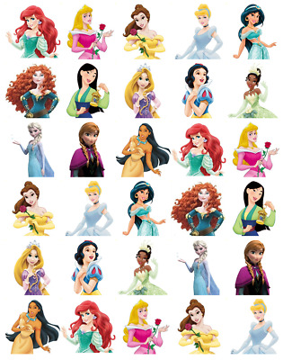 £1.89 • Buy 30x Disney Princess Half Cupcake Toppers Edible Wafer Paper Fairy Cake Toppers