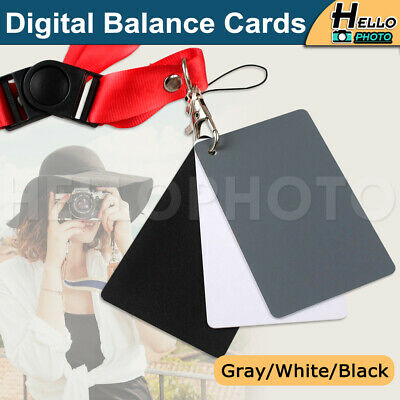 £4.89 • Buy 3In1 18% Digital Photography Exposure Color Balance Card Set Gray/White/Black