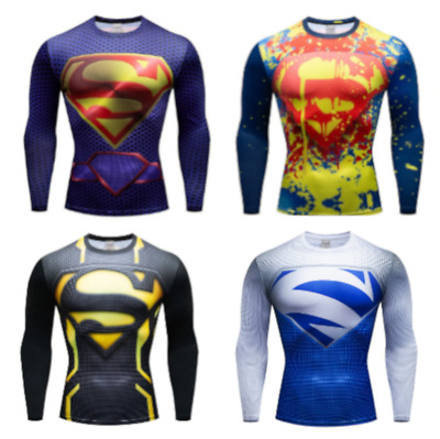 Mens Compression Armour Base Layer Gym Top Superhero Running Cross Fit Cosplay • 12.99£