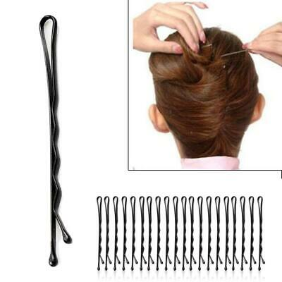 Hair Bobby Pins Waved Kirby Clips Black Grip Salon • 1.69£
