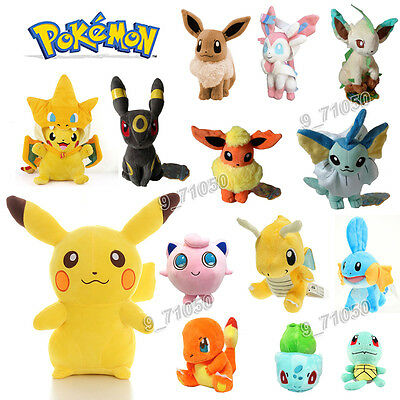 Gift Pokemon Collectible Plush Character Soft Toy Stuffed Doll Teddy  Q172 • 3.66£