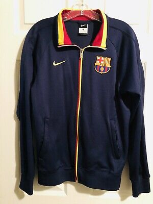 27f616d03 Authentic Nike FC Barcelona Soccer Football Full-Zip Track Jacket - Small •  19.99