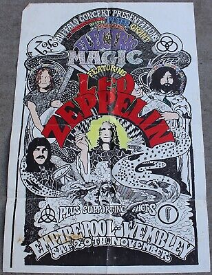 $125 • Buy Vintage Led Zeppelin Electric Magic Concert Show Poster Wembley Empire Pool 1971