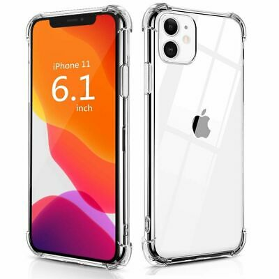 AU4.55 • Buy Shockproof Tough Gel Clear Case Cover For Apple IPhone 11 Pro Max 6 7 8 XR XS +