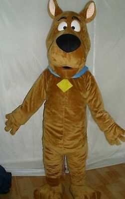 Scooby-doo Dog Brown Mascot Costume Cosplay Adult Suit Fancy Dress • 105.50£