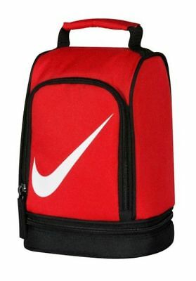 b233996fcc30 New Nike Lunch Box Tote School Bag Boys girls 2 Compartments Insulated Dome  Red •