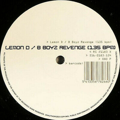 Lemon D - B Boyz Revenge, 10 , S/Sided, (Vinyl) • 12.90£