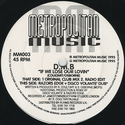 D.M.B. - If We Lose Our Lovin, 12 , (Vinyl) • 12.90£