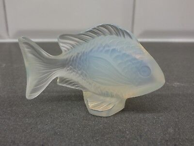 Lalique Crystal Damsel Fish Sculpture – Opalescent Clear, Excellent Condition • 198.60£