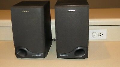 $12.99 • Buy Aiwa BookShelf Speakers Model SX-L70 T-Bass, Bass Reflex System 35 Watts 6 Ohms