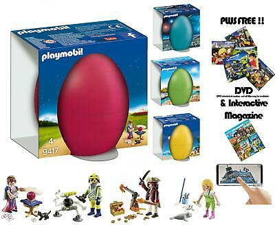 Playmobil Easter Gift Egg Space Agent Fortune Teller Zookeeper & Pirate • 8.99£