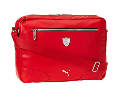 63ce6d1556 PUMA PMMO1038RED FERRARI LS REPORTER Red Leather Reporter Bag • 62.99