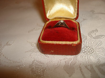$229.99 • Buy Vintage Nice 14k Yellow Gold 2.6mm Diamond Solitaire Ring - Gypsy Mount Size 6.5
