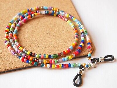 Spectacle/Sun Glasses Chain/Cord Bright Mixed Colour 3mm Beads MCFGC2 • 2.69£