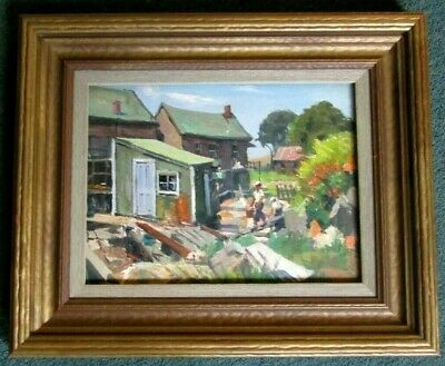 $850 • Buy Fine Oil Painting Of Rockport Ma. By Listed Artist Joseph Newman (1890-1979)
