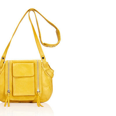 $55.20 • Buy TREESJE Trend Crossbody Mustard Leather Handbag, Tote, Hobo,Clutch