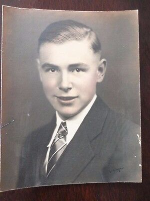 Photo Heavy Board Card Young Man Paul Moffit Signed Lininger Vintage • 18.06£