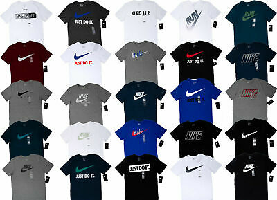 $21.77 • Buy Men NIKE T SHIRT Graphic Tee Crew Neck S-3XL - Athletic Fit Just Do It Swoosh
