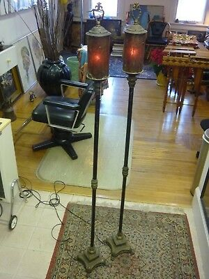 $1800 • Buy Antique Floor Lamps Gothic Renaissance Lion Heads & Claw Feet ,rare  Mica Shades