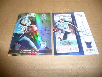 $2.43 • Buy Justin Hunter Autograph/auto Lot Of 2 Titans Spectra Panini Contenders