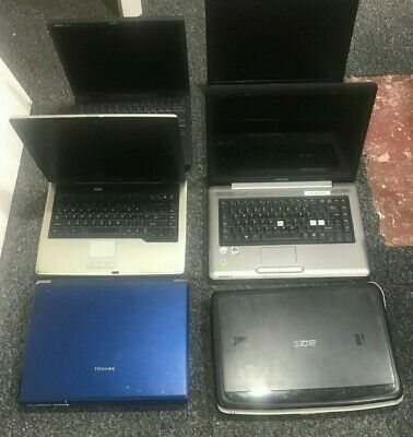 $ CDN264.11 • Buy 7 X Job Lot Of Laptops Faulty Spares Or Repairs Acer, HP,Toshiba, Dell ORIGINAL