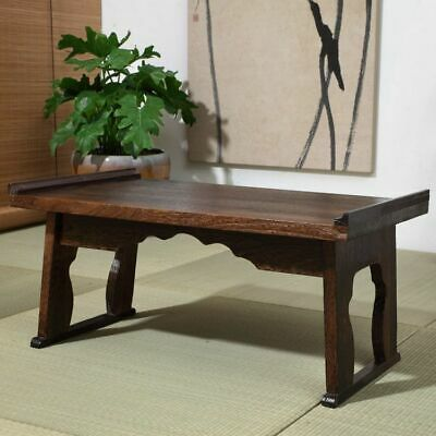 Coffee Table Wood Tray Folding Leg Vintage Antique Japanese Style Home Furniture • 160.93£