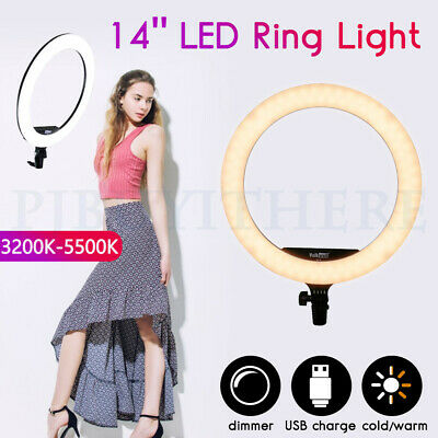 AU55.85 • Buy Dimmable Diva LED Ring Light Diffuser Stand Make Up Studio Lighting Video 5500K