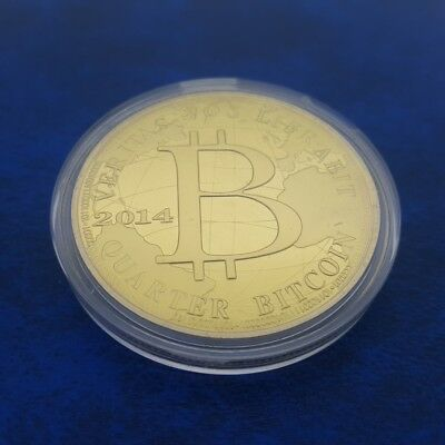 $13.95 • Buy 2014 Quarter Bitcoin 0.25 BTC Cryptocurrency Virtual Currency Gold Plated Coin