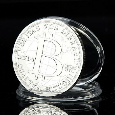 $13.95 • Buy 2014 Quarter Bitcoin 0.25 BTC Cryptocurrency Virtual Currency Silver Plated Coin