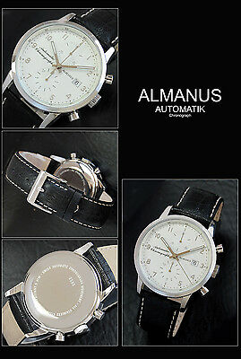 $779.47 • Buy Almanus Flyers Automatic Chronograph Men's Watch Mit Valjoux 7750 Swiss Movement