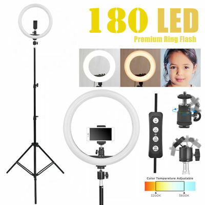 AU25.74 • Buy 14  5500K Dimmable Diva LED Ring Light Diffuser MIRROR Stand Make Up Studio