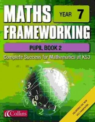 Maths Frameworking - Year 7 Pupil Book 2 By Evans, Kevin Spiral Bound Book The • 5.99£
