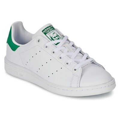 info for 4df43 5716c Scarpe Bambino Bambina ADIDAS ORIGINALS STAN SMITH J Bianco Verde Sneakers  • 73.45€